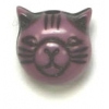 Acrylic Cat Bead 9mm Purple